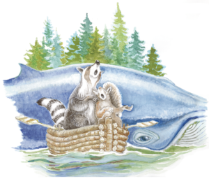 Racoons and Whale